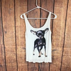 Divided Chihuahua women's size small tank top